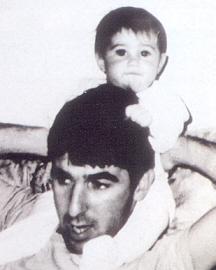 Ron Arad und seine Tochter Jubal